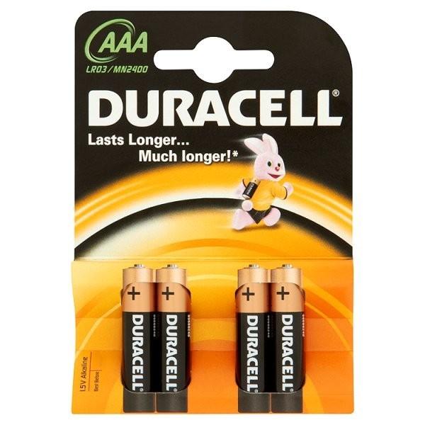 Alkalické baterie Baterie Duracell Basic AAA 4ks