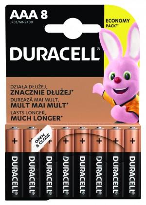 Alkalické baterie Baterie DURACELL Basic,AAA,8 ks