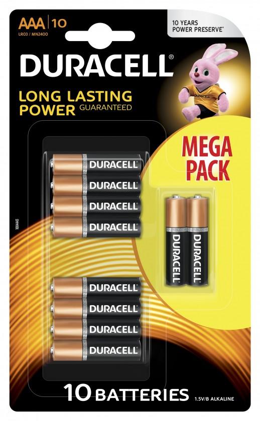 Alkalické baterie Baterie Duracell basic AAA