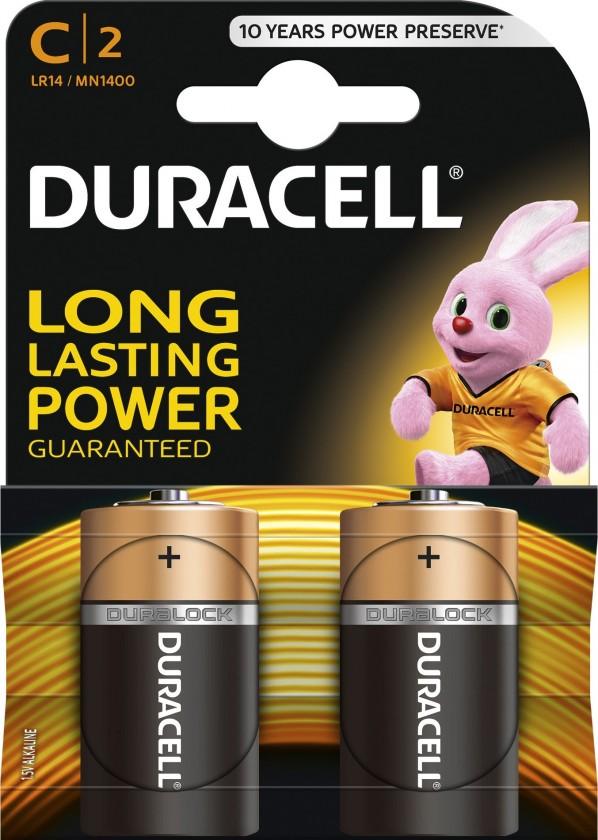 Alkalické baterie Baterie Duracell Basic LR14 2 ks (10PP100008)