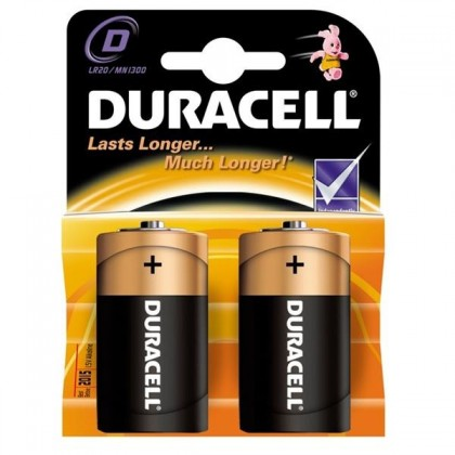 Alkalické baterie Baterie Duracell Basic LR20 2ks