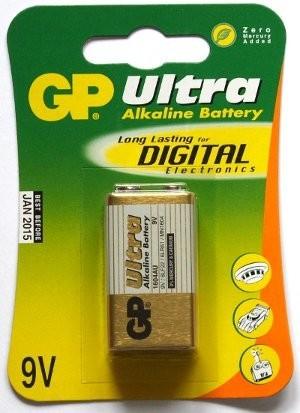 Alkalické baterie Baterie GP Ultra Plus, 9V