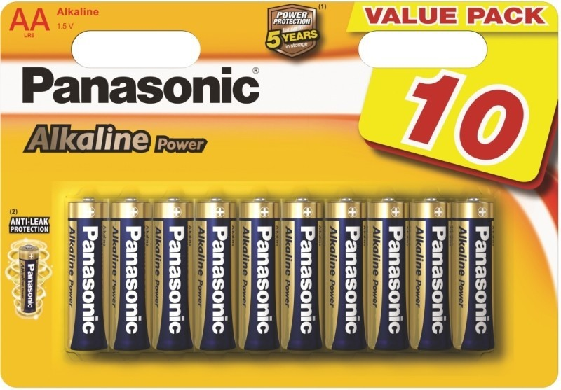 Alkalické baterie Baterie Panasonic POWER AA 10KS
