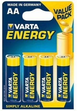 Alkalické baterie Baterie VARTA ENERGY tužkové AA 4ks