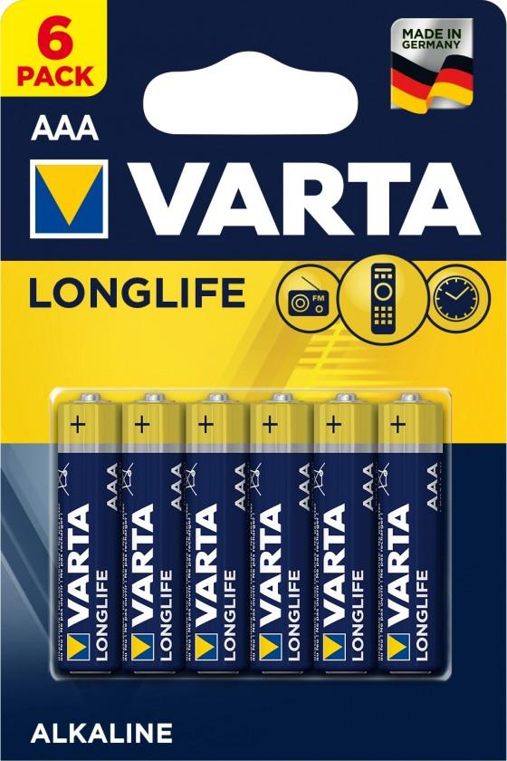 Alkalické baterie Baterie Varta Longlife Extra, AAA, 6ks
