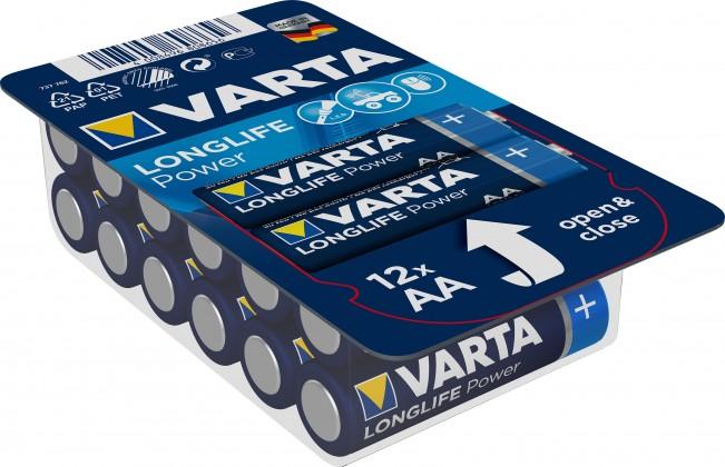 Alkalické baterie Baterie Varta Longlife Power, AA, 12ks