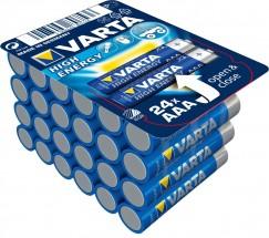 Alkalické baterie VARTA HIGH ENERGY AAA 24ks