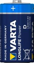 Alkalické baterie VARTA LONGLIFE Power D, 4ks