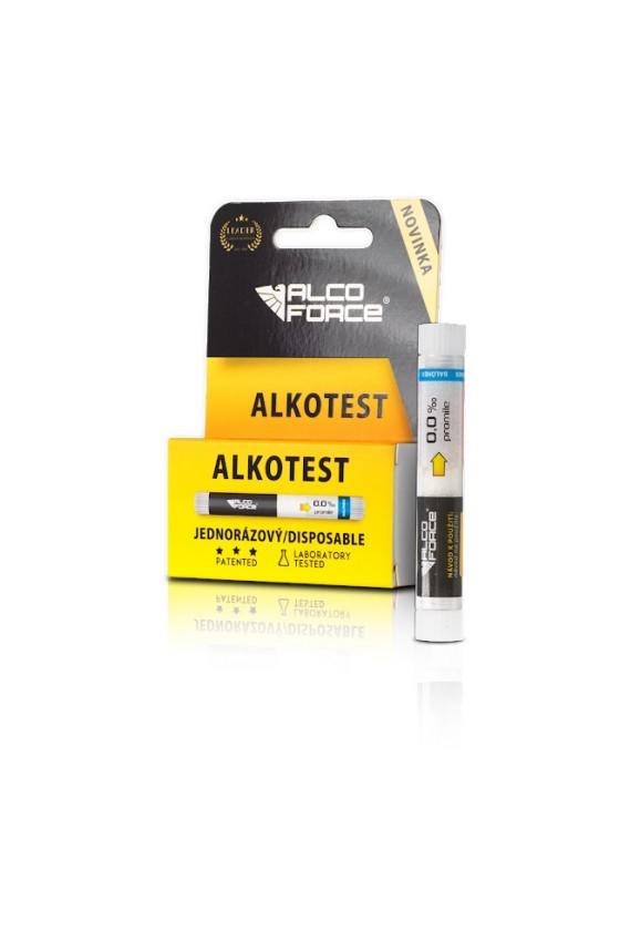 Alkohol testery,transmitery, kabeláž Alkohol tester AlcoForce ALKOTEST, jednorázový