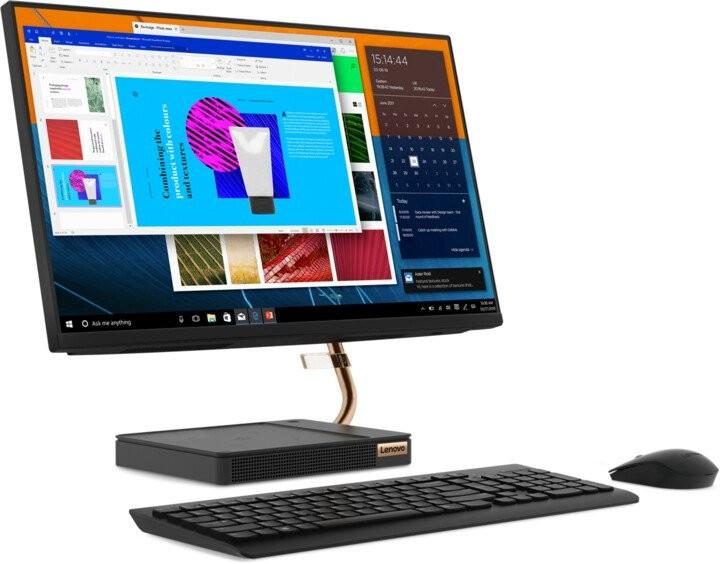 "All in one PC sestava Lenovo All-in-one A540, 23.8"", /Ryzen3/8G/1T/INT/W10H černý"