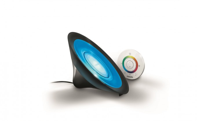 Aloha - Lampička LED, 16,5cm (černá)