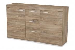 Alvaro - Komoda, 2x dveře, 3x zásuvka (stirling)