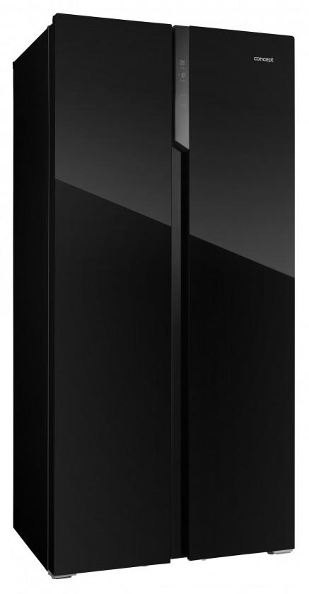 Americká lednice Americká chladnička Concept LA7383bc černé sklo