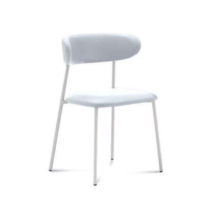 Anais - Jídelní židle (lak bílý matný, eko kůže bílá)