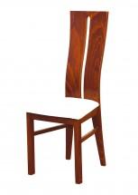 Andre I - jídelní židle (dřevo - světlý ořech/potah - syntetická kůže)