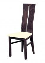 Andre I - jídelní židle (dřevo - tmavý ořech/potah - látka)