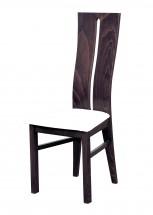 Andre I - jídelní židle (dřevo - tmavý ořech/potah - syntetická kůže)