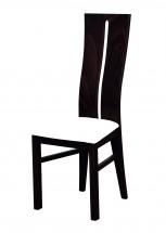Andre I - jídelní židle (dřevo - wenge/potah - syntetická kůže)