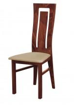 Andre II - jídelní židle (dřevo - sołtysiak/potah - syntetická kůže)