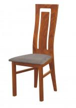 Andre II - jídelní židle (dřevo - světlý ořech/potah - látka)