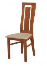 Andre II - jídelní židle (dřevo - světlý ořech/potah - syntetická kůže)