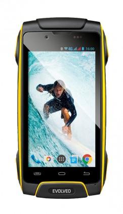 Android Evolveo StrongPhone Q8 LTE, žlutá
