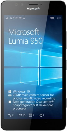 Microsoft Lumia 950, bílá