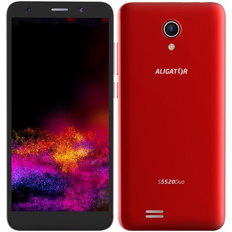 Android Mobilní telefon ALIGATOR S5520 Duo 1GB/16GB, červený