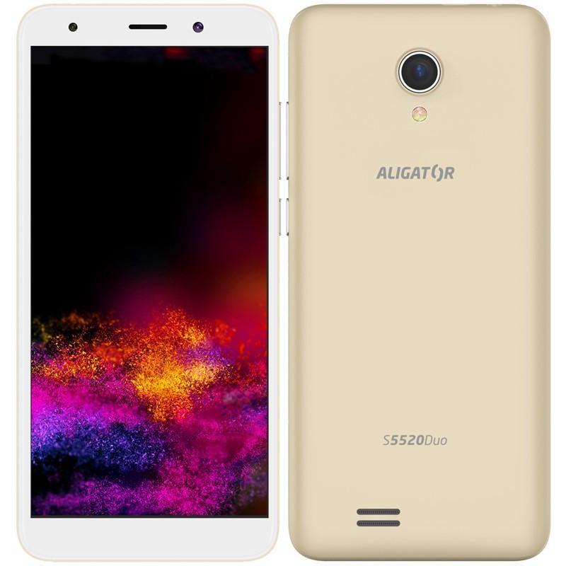 Android Mobilní telefon Aligator S5520 Duo 1GB/16GB, zlatá
