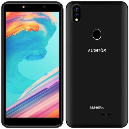 Android Mobilní telefon Aligator S5540 2GB/32GB, černá POUŽITÉ, NEOPOTŘEB