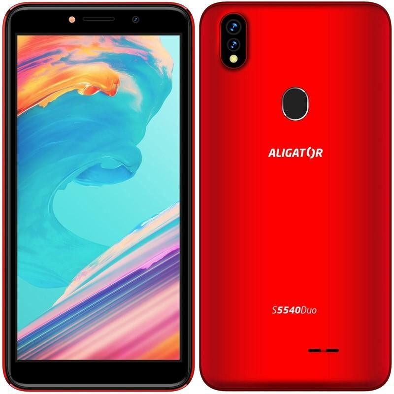 Android Mobilní telefon Aligator S5540 2GB/32GB, červená POUŽITÉ, NEOPOTŘ