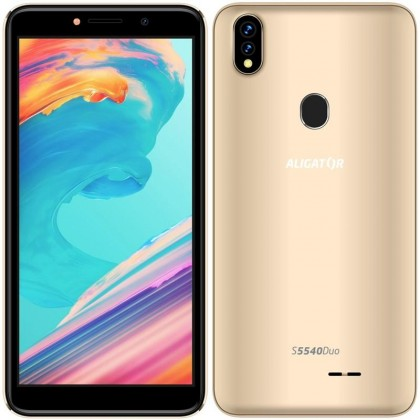 Android Mobilní telefon Aligator S5540 2GB/32GB, zlatá
