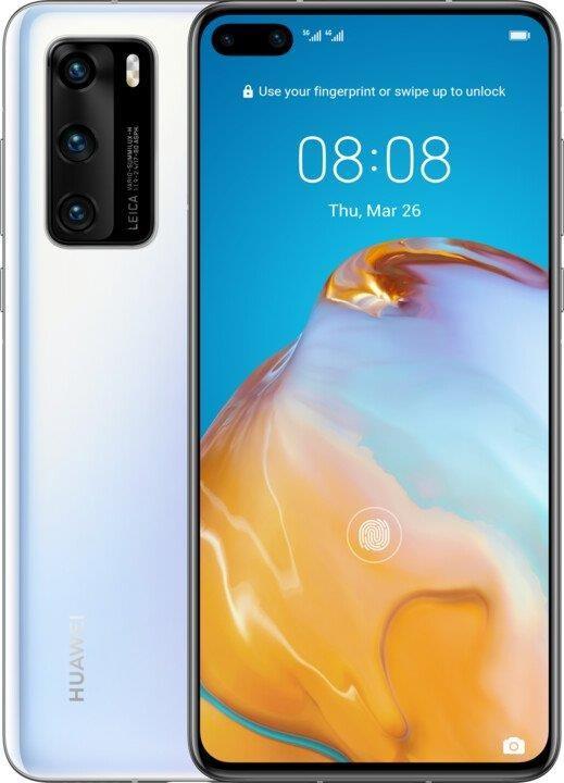 Android Mobilní telefon Huawei P40 8GB/128GB Ice White POUŽITÉ, NEOPOTŘEB