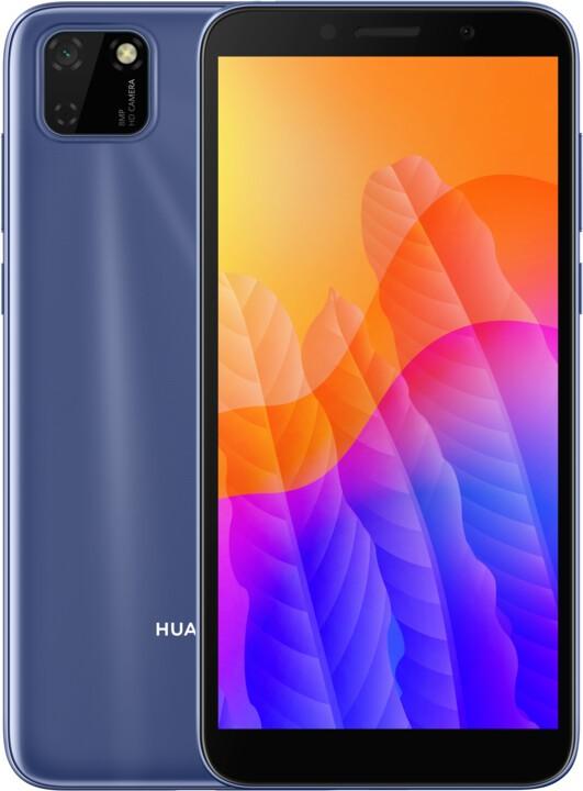 Android Mobilní telefon Huawei Y5P 2GB/32GB, modrá POUŽITÉ, NEOPOTŘEBENÉ