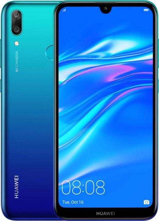 Android Mobilní telefon Huawei Y7 2019 3GB/32GB, modrá POUŽITÉ, NEOPOTŘEB