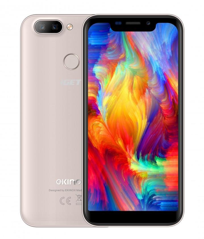 Android Mobilní telefon iGET Ekinox K5 2GB/16GB, zlatá
