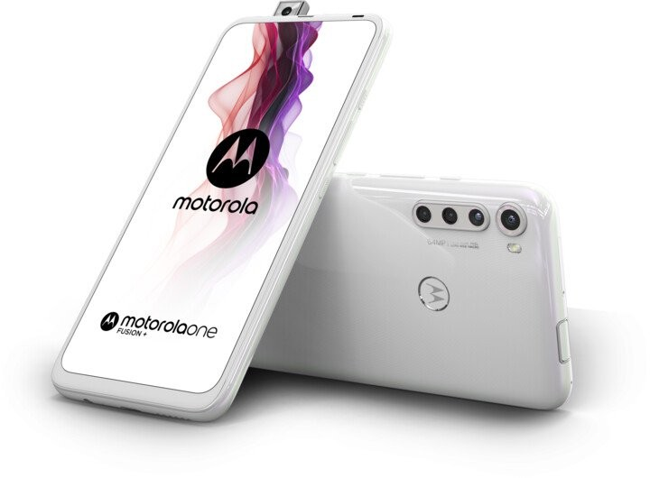Android Mobilní telefon Motorola One Fusion+ 6GB/128GB, bílá
