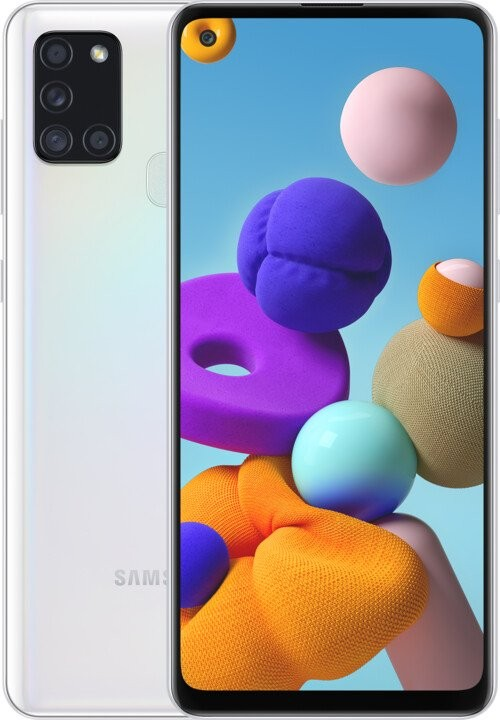 Android Mobilní telefon Samsung Galaxy A21s 4GB/64GB, bílá