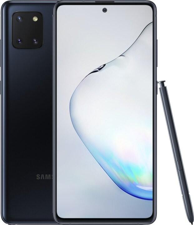 Android Mobilní telefon Samsung Galaxy Note 10 Lite 6GB/128GB, černá POUŽ