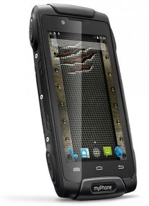 Android myPhone Hammer AXE, černá POUŽITÉ, NEOPOTŘEBENÉ ZBOŽÍ