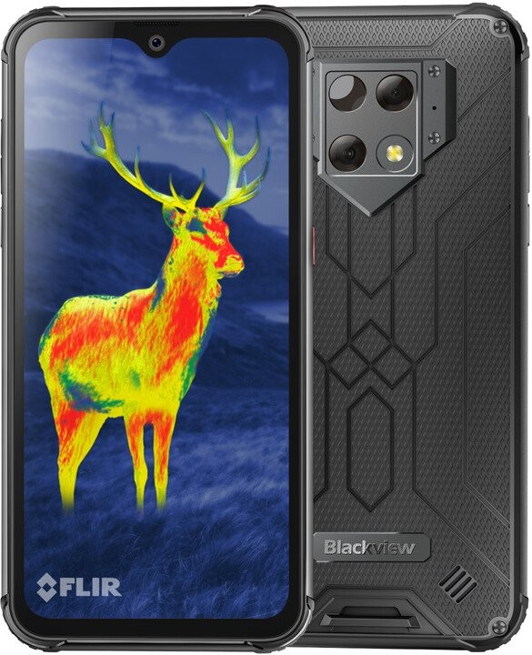 Android Odolný telefon iGET Blackview GBV9800 Pro Thermo 6/128GB, stříbr