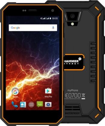 Android Odolný telefon myPhone Hammer ENERGY 2GB/16GB, černá/oranžová