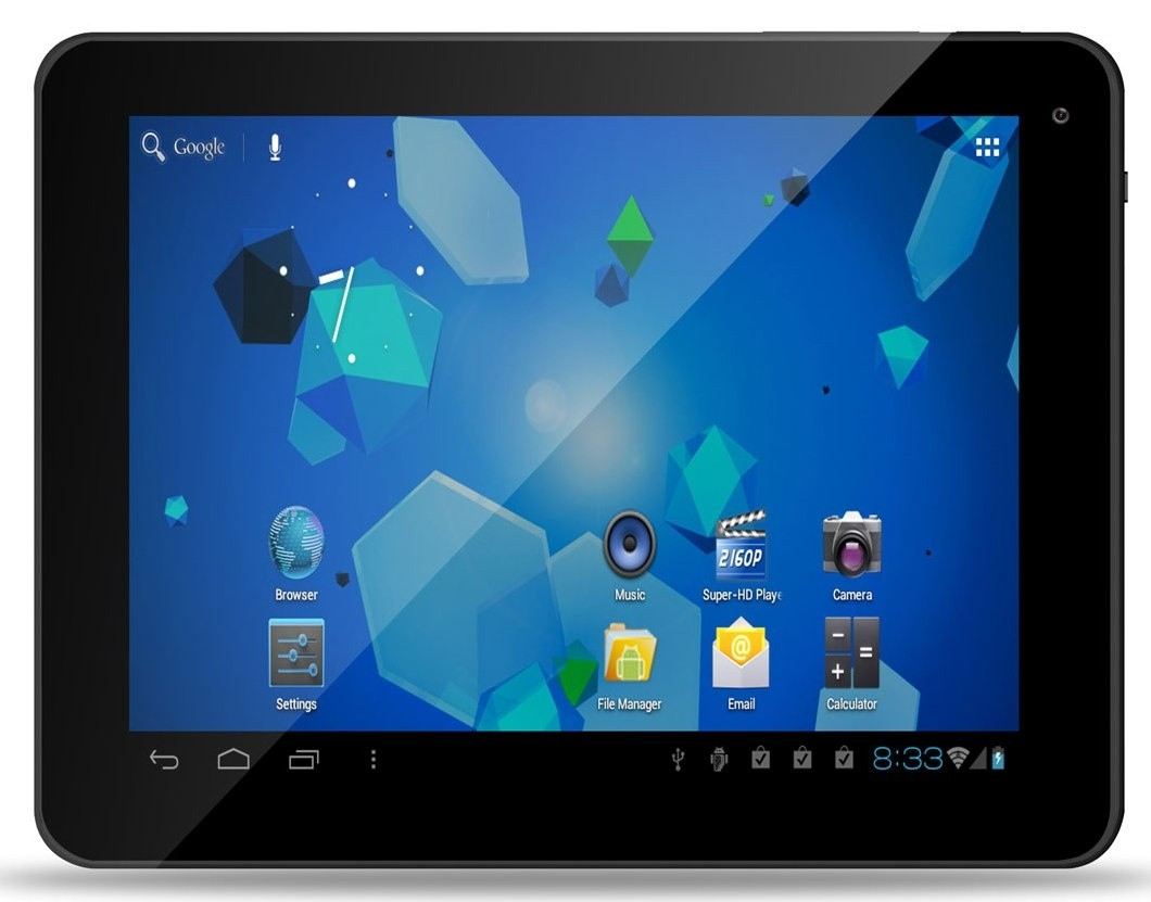 Android tablet MPMan MP843 černý
