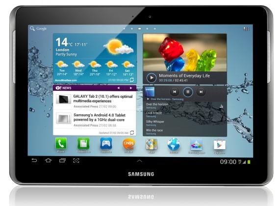 Android tablet Samsung Galaxy Tab 2 10.1 (P5100), stříbrný
