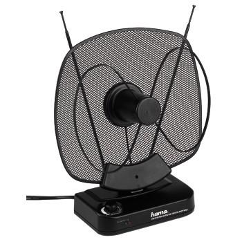 Anténa Hama aktivní pokojová anténa VHF/UHF/FM, 40dB, černá
