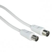 Anténní kabel Hama 42966, 75 dB, bílý, 15 m