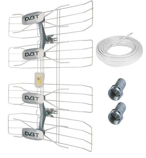 Antény Solight HN50 TV anténa 47dBi aktivní venkovní
