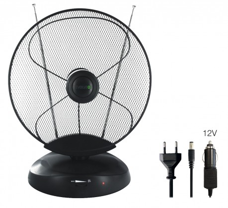 Antény TV anténa Evolveo Xany 4 LTE, 50dBi, aktivní, pokojová