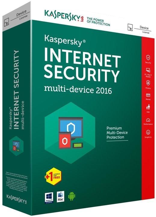 Antivirové programy Kaspersky Internet Security 2016 CZ/1 rok (KL1941OBDFS-6MCZ)