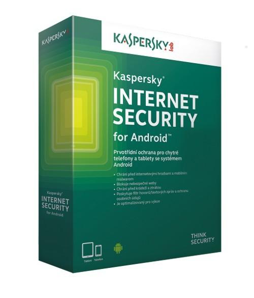 Antivirové programy Kaspersky Internet Security for Android 3 device (pro 3 zařízení)